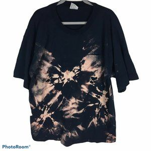 Bleach Dyed Distressed  TShirt Size 2XL Tye Dye